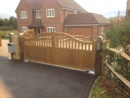 Slider 2 Hardwood Gates Supplied and Fitted