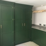 Hertiage handmade built in utility room hampshire