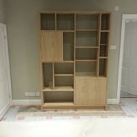 Childrens bedroom storage and display unit