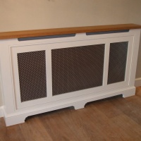 Handmade Radiator Cover with Brass Grile