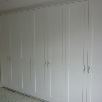 Handmade painted bedroom wardrobes Spray finished