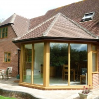 Oak Timber Exterior French Doors to Summer Room