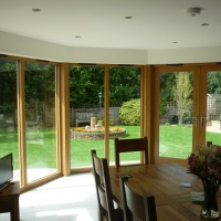Timber Exterior French Doors to Summer Room