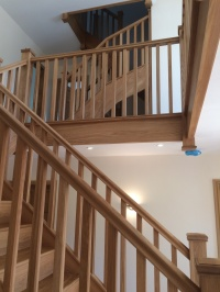 Stair case galleried landing in Oak